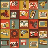 image of swag  - Retro media hipster style pattern - JPG