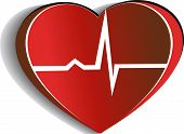 stock photo of cardiovascular  - Cardiogram abstract design - JPG