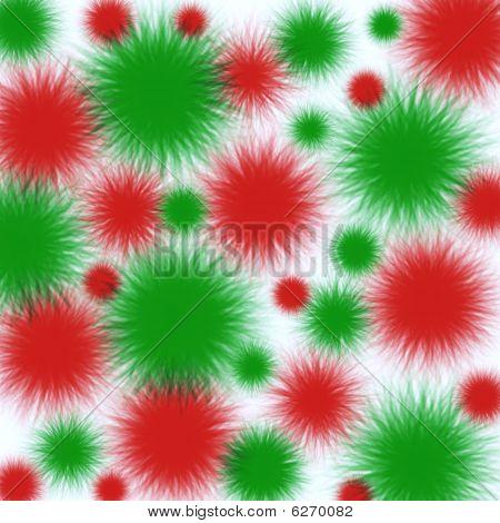 Vector Christmas Pom Poms