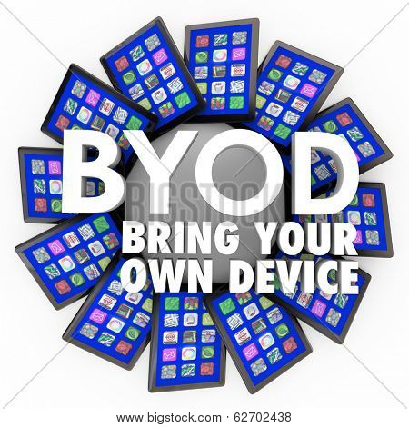 BYOD Acronym Bring Your Own Device Company Policy Tablets