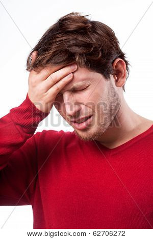 Young Man With Migraine