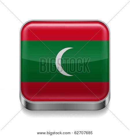 Metal  icon of Maldives