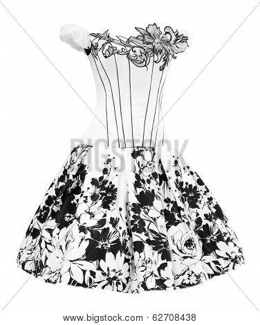 Black And White Ladies Dress