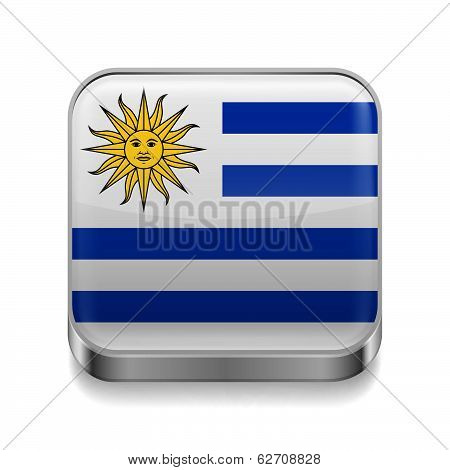 Metal  icon of Uruguay