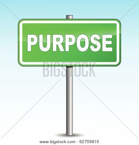 Vector Purpose Signpost
