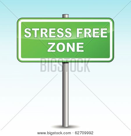 Vector Stress Free Signpost