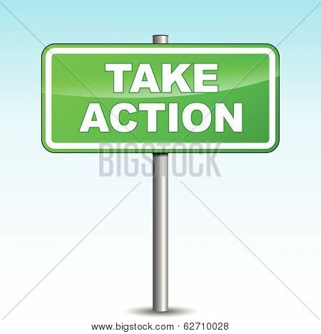 Vector Take Action Signpost