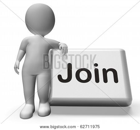 Join Button With Character Shows Subscribing Membership Or Registration