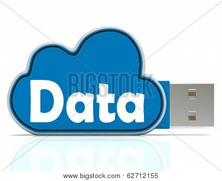 Data Memory Stick Shows Backing Up To Cloud Storage