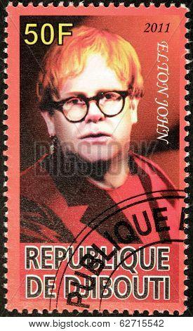 Elton John Stamp