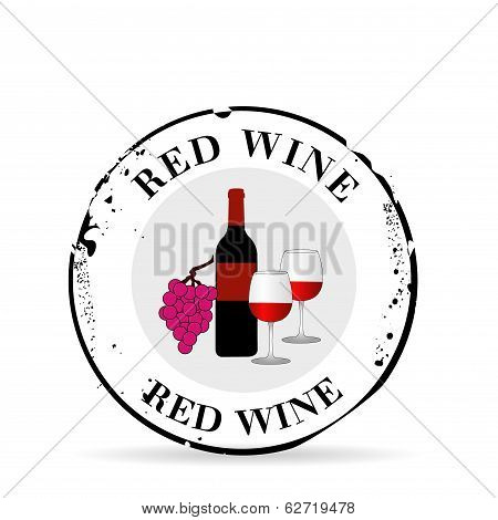Stamp Red Wine