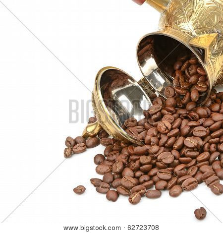 Coffee Pot And Coffee Beans