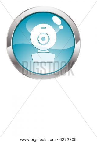 Gloss Button with web cam