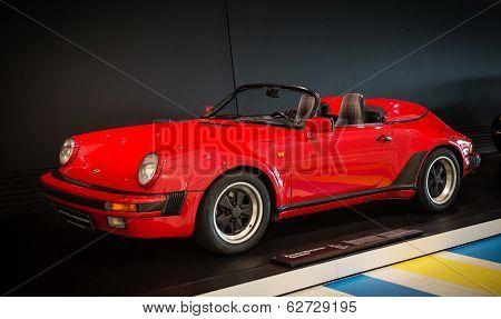 STUTTGART, GERMANY - CIRCA APRIL, 2014: Porsche Museum. PORSHE 911 Carrera Speedster (1989)