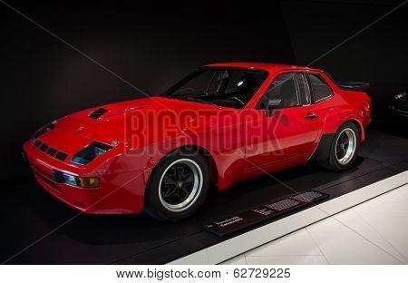 STUTTGART, GERMANY - CIRCA APRIL, 2014: Porsche Museum. PORSHE 924 Carrera GTS (1981)