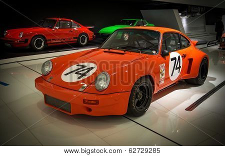 STUTTGART, GERMANY - CIRCA APRIL, 2014: Porsche Museum. PORSHE 911 Carrera RSR 3.0 (1974)