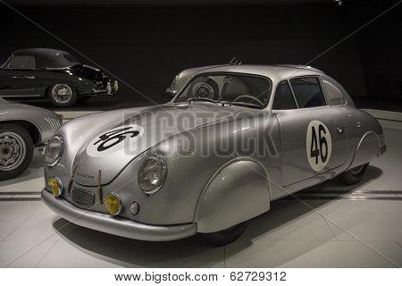 STUTTGART, GERMANY - CIRCA APRIL, 2014: Porsche Museum. PORSHE 356 SL Coupe (1950)