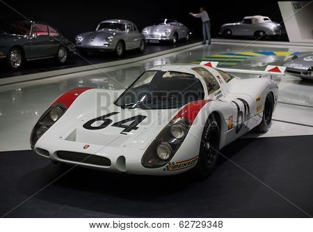 STUTTGART, GERMANY - CIRCA APRIL, 2014: Porsche Museum. PORSHE 908 LH (1969)