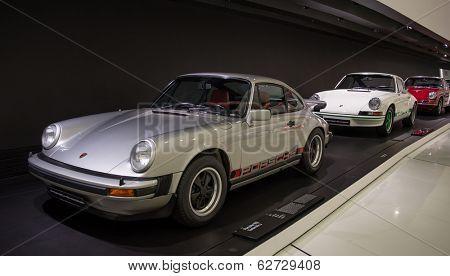 STUTTGART, GERMANY - CIRCA APRIL, 2014: Porsche Museum. PORSHE cars