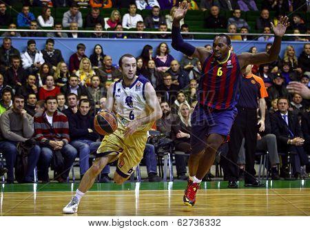 Euroleague Basketball Game Budivelnik Kyiv Vs Fc Barcelona
