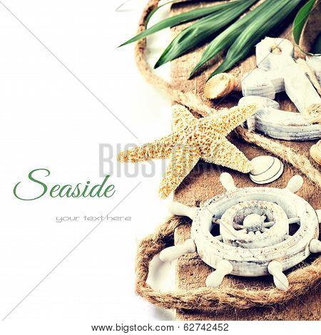 Summer Holiday Setting With Seastar