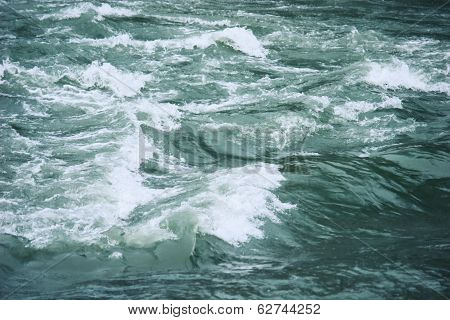 River Water With Turbulent Flow