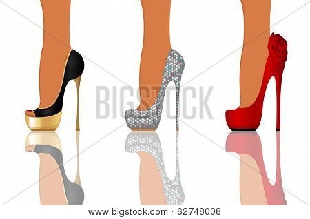 High heel party shoes