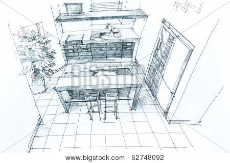 Hand Drawing Interior