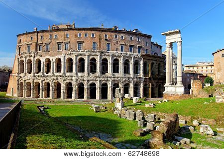 Teatro Di Marcello. Theatre Of Marcellus. Rome. Italy
