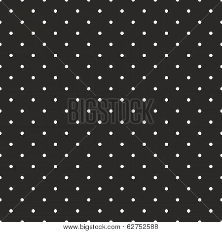 Seamless vector black and white pattern or background with small polka dots