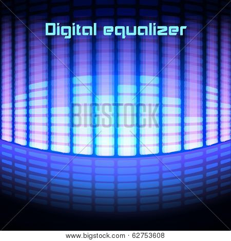 Shining magenta digital equalizer background