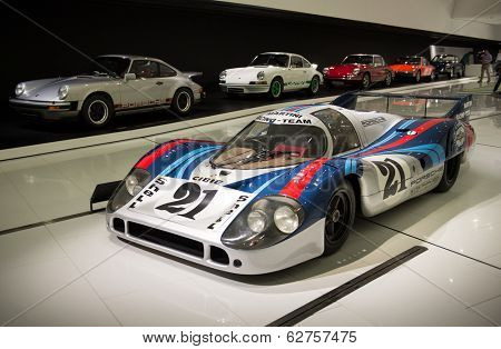 STUTTGART, GERMANY - APRIL, 2014: Porsche Museum. PORSHE 917 LH