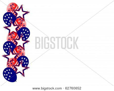 fourth july balloons star side