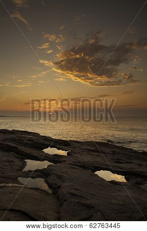 Sunrise, Cloud, Acadia National Park