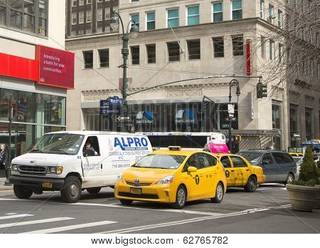New York City Taxis in Manhattan