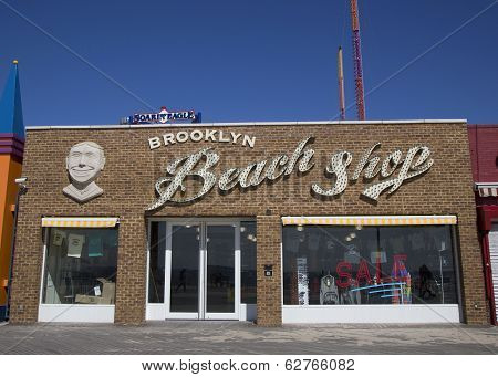 Brooklyn's Landmark Coney Island Beach Shop