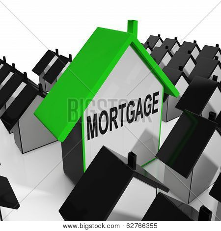 Mortgage House Means Debt And Repayments On Property