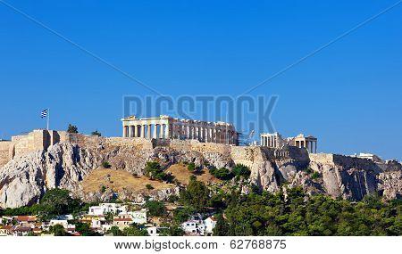Parthenon Temple On Athenian Acropolis