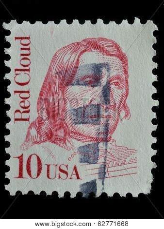 Usa. Postage Stamp Shows A Portrait (1987)