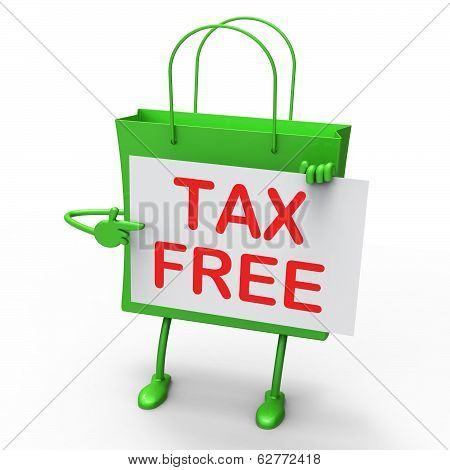 Tax Free Bag Represents Duty Exempt Discounts