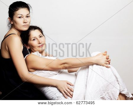 Portrait of daughter and her mother