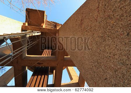 Water Tower With Ladder