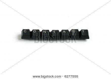 Contact Written With Keyboard Keys