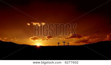Good Friday Sunset or Easter Sunrise
