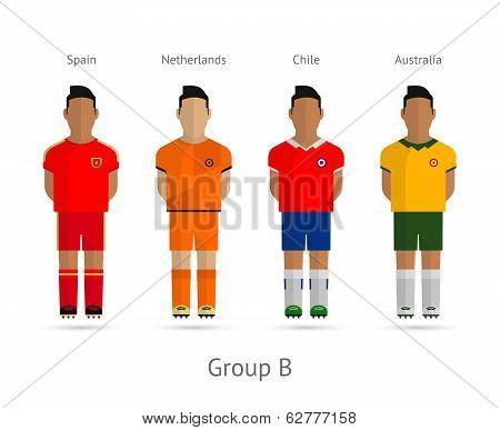 Football teams. Group B