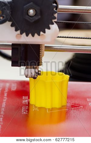Three Dimensional Printer In Action