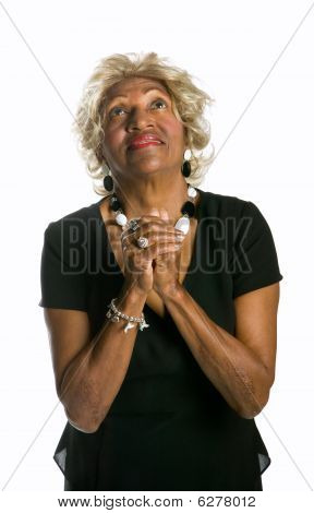 African-american Woman Praying