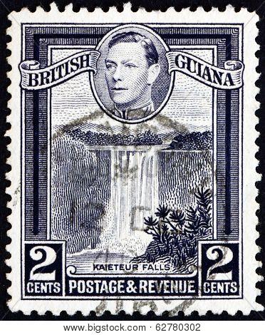 Postage Stamp British Guiana 1949 Kaieteur Falls, Guyana