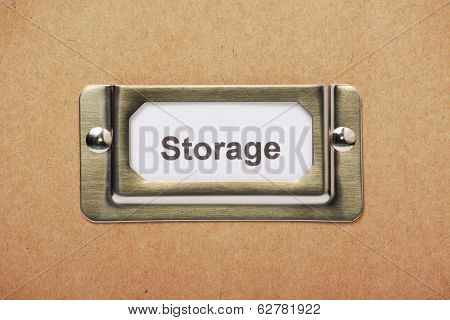 Storage Drawer Label