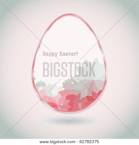 Easter Egg Pink Pale Greeting Card Flower Petal